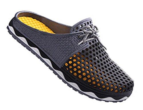 Fortuning's JDS estate traspirabilità moda scarpe da spiaggia scavano fuori pantofole per le donne e gli uomini Nero
