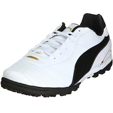 Puma Esito Finale Trainer, Chaussures football homme - Blanc/Noir/Doré, 45 EU