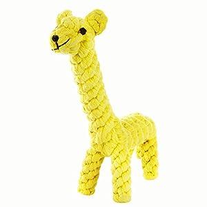 Chiens jouets pour animaux de compagnie coton tissé Chew corde jouet dentaire Teaser pour chiot petit chien mordant girafe