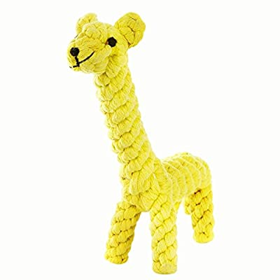 Dog Toys Pet Cotton Woven Chew Rope Toy Dental Teaser For Puppy Small Dog Biting Giraffe
