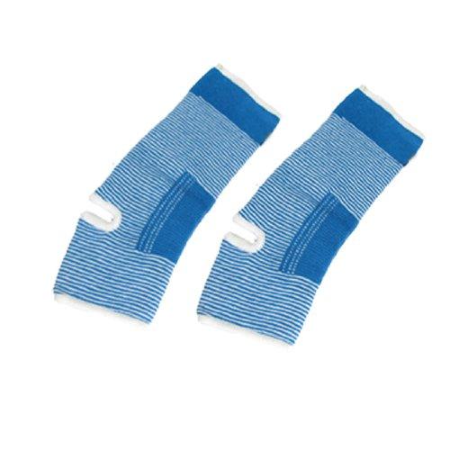 2 Stück, weiß mit blauen Streifen, Elastische Knöchelstütze