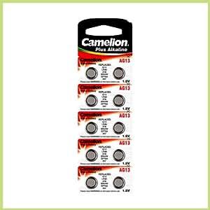 10 Stück Knopfzelle AG 13 Camelion