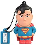 Tribe DC Comics Action Figure Superman Chiavetta USB da 16 GB Pendrive Memoria USB Flash Drive 2.0 Memory Stick, Idee Regalo Originali, Figurine 3D, Archiviazione Dati USB Gadget in PVC con Portachiavi - Multicolore