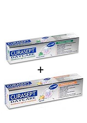 Dentifricio curasept DAYCARE offerta 2 pezzi Menta fredda ,Agrumi