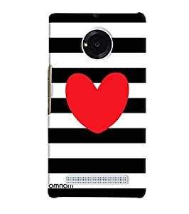 Omnam Red Heart Printed On Black And White Zebra Printed Designer Back Cover Case for Micromax Yunique