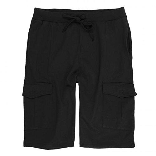 Herren Cargo Shorts in Übergröße von Lavecchia mit Cargo Taschen und Tunnelzug von 3XL bis 8XL schwarz: 4XL