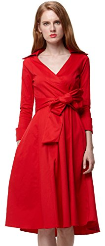 u-shot donna anni 50 vintage Rockabilly Swing cocktail party vestito Red