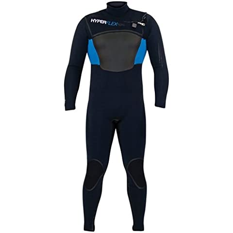 Hyperflex Wetsuits Men's Amp, 3-5,3 mm, Cerniera frontale integrale, taglia M, colore: nero