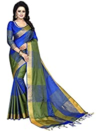 J B Fashion Women's cotton silk muli color Sarees for women