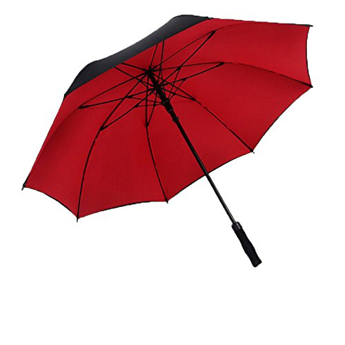 Guoke Langer Griff Regenschirm Männer Business Twin Creative Auto Regenschirm Stockschirm, 120 feine Doppelzimmer mit Etagenbett Schwarz (Schwarze Etagenbett)