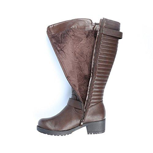 Ideal Shoes-Stiefel mit Matte und Elektroschock Lauriana Braun - braun