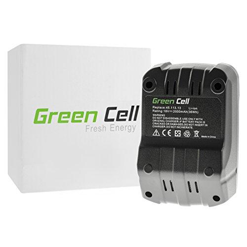 Preisvergleich Produktbild Green Cell® Elektrowerkzeug Akku für Einhell RT-CD 18/1-2B (Panasonic/Sanyo Li-Ion Zellen 2000 mAh 18V)