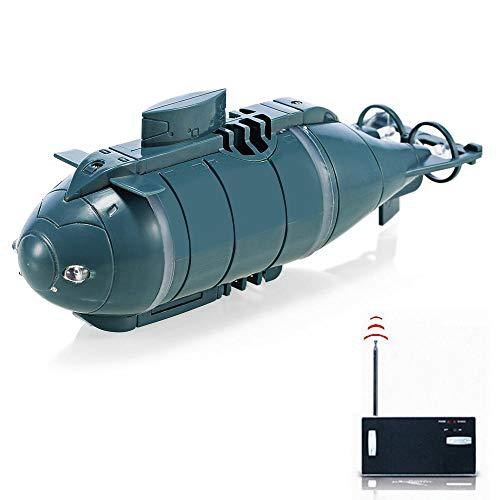 es Boot Mini, RC Unterseeboot(Schwarz) Für Kinder, Wiederaufladbar wasserdichte Beleuchten Elektrische Spielzeuge Geschenk ()