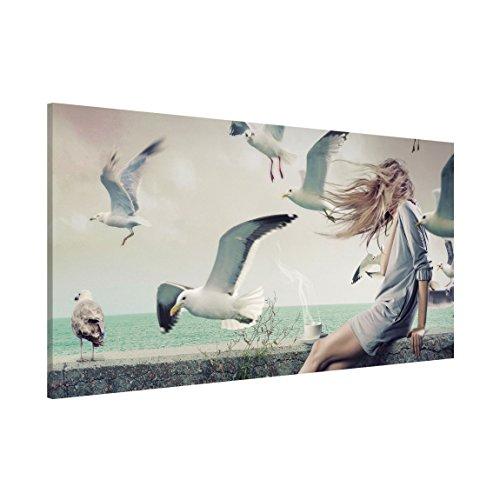 Apalis 108780 Magnettafel Kaffee am Meer Memoboard Design Quer Metall Magnet Pinnwand Motiv Wand Stahl Küche Büro, 37 x 78 cm
