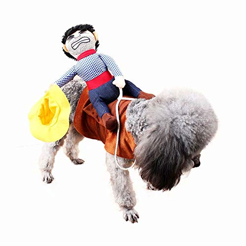 qiaoniuniu Dog Costume Pet Puppy Suit Cowboy Rider Style Dog Carrying Costume for Halloween Christmas Party ()