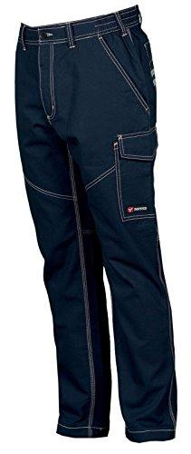 Pantalone da lavoro cotone estivo leggero con tasconi payper worker summer, colore: navy, taglia: 2xl