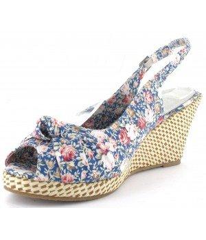 Top or - Sandales femme bleu - ES105-7 Bleu