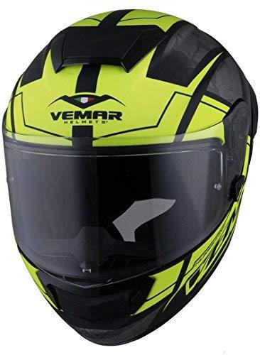 Vemar Hurricane Claw Helm Schwarz/Gelb XL (61/62) (Kevlar Helm Xl)