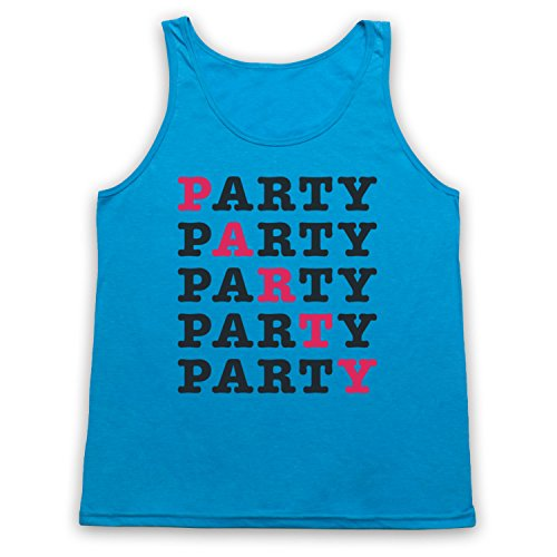 PARTY Hipster Tank-Top Weste Neon Blau