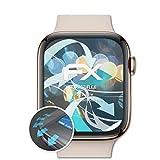 atFoliX Schutzfolie kompatibel mit Apple Watch 44 mm Series 4 Folie, ultraklare und Flexible FX Displayschutzfolie (3X)