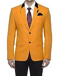 Favoroski Men's Thai Linen Blazers - Orange