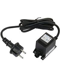 TDC 6W Netzteil / Trafo / Transformator AC/AC wassergeschützt IP67 für aussen / außen Input 230V Output 12V Anschluss IP44 1,9 m Kabel für Gartenspot / Gartenstrahler