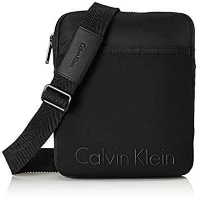 Calvin Klein Herren Alec Flat Crossover Business Tasche, Schwarz (Black), 4x27x22 cm