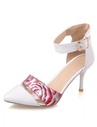WSS 2016 Chaussures Femme-Habillé-Noir / Rose / Blanc / Or / Amande-Talon Aiguille-Bout Pointu-Talons-Similicuir almond-us8.5 / eu39 / uk6.5 / cn40