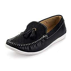 Rosso Italiano Mens Black Bell Loafers Shoe (ril499bl801)10