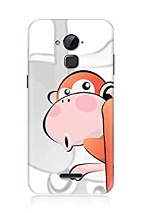 FABCASE Premium cartoon animated red monkey blush comic cute doll playing children child kids animals Printed Hard Plastic Back Case Cover for Coolpad Note 3