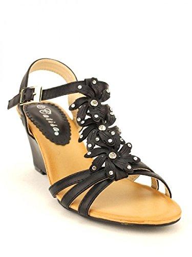 Cendriyon, Compensée Noire CATISA Mode Chaussures Femme Noir