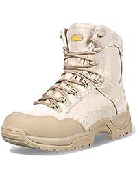58e7e4e6835 wthfwm Hombres Militares Zapatos de tacón Alto Botas de Senderismo tácticas  con Cordones Combate el Trabajo