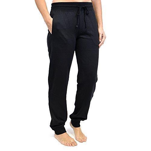 Femmes Pantalon De Jogging Gym Pantalon De Survêtement Avec Manchon Nervuré Noir