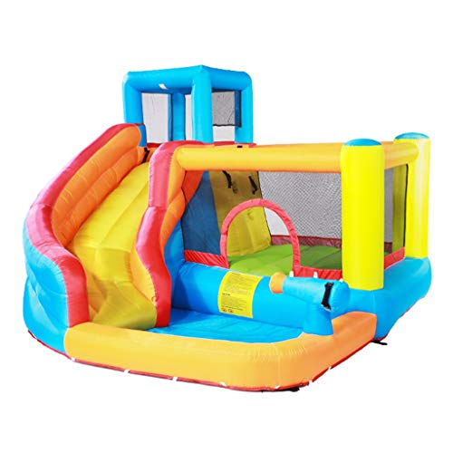 Inflatable Bouncer Children's Inflatable Castle Water Slide Outdoor Trampoline Children Playground Bouncing House Best Gift For Kids (Color : Orange, Size : 320x280x210cm)