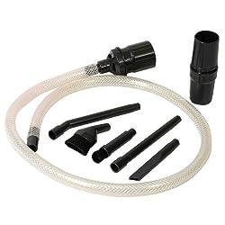 Menalux D18N Mikrodüsenset (Zubehör, Düsen für Detailreinigung, 7-teiliges Set, Adapter, Aufbewahrungsbox, flexibel einsetzbar, Staubsaugerdüse, passend für Staubsaugertypen mit 32/35 mm, schwarz)
