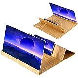 LETFF 12-Zoll-Handy-Bildschirm Lupe einziehbare Falten, 3D Strahlenschutz Auge Schatz Büro Heimkino Verstärker,Gold