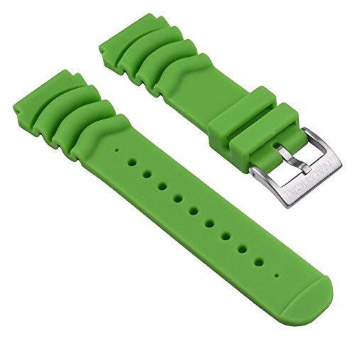 Nautica Ersatzband Uhrenarmband Silikon Band Grün für NMX 650 / A18634G A18631 A18635G