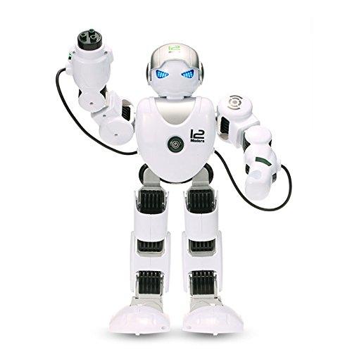 RCTecnic Mini Alpha K1 Robot Humanoide Programable ¡Baila, Dispara, Camina y Habla! Toy Robot Teledirigido Educativo, Juguete para Niños | Robotica Educativa Infantil Inteligente