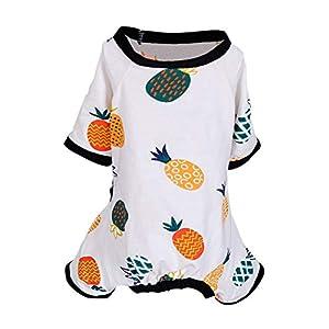 Handfly Vêtements pour Chien pour Animaux de Compagnie Chien Pyjama pour Chien Confortable Combinaisons Douces Vêtements de survêtement pour Animaux de Compagnie vêtements pour Petits Chiens Chats