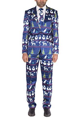 Noroze Herren Prämie Neuheit Rentier Baum Outfit Kostüm Weihnachten Anzug (XL, ()