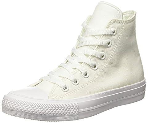 Converse Unisex-Erwachsene Chuck Taylor All Star Ii High-Top, Weiß (White/White/Navy), 40 EU