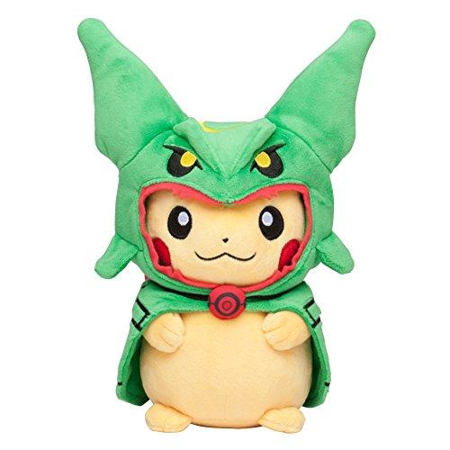"Pokemon Center Tokyo Sky Tree Town Poncho Pikachu Rayquaza 9"" Plush Mascot Stuffed Doll (Pokémon Go)"
