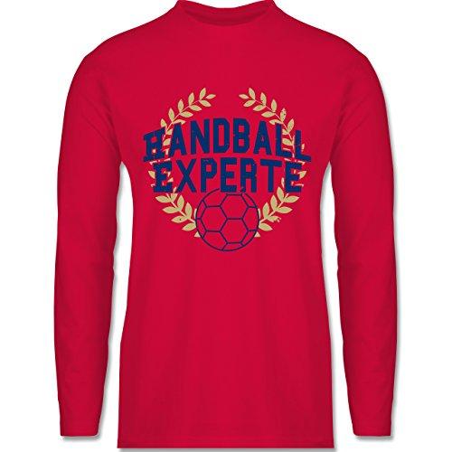 Shirtracer Handball - Handallexperte - Herren Langarmshirt Rot