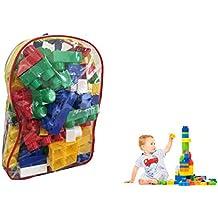Ducomi® Zainetto con Mattoncini Creativi Colorati da Costruzioni per Bambini e Prima Infanzia - No LEGO - Alternativa di Qualità - Ottimo Rapporto Qualità Prezzo