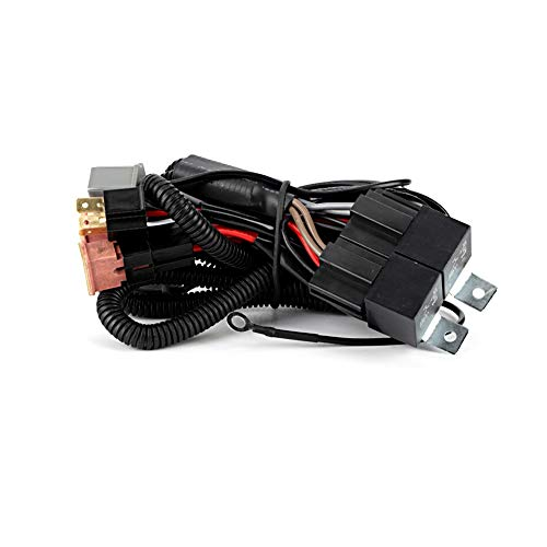 Qii lu Car LED Headlight Harness Lighting Boost Wire Harness con adattatori H4 / HB3 per 2 lu