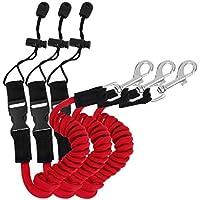Correa de remo para kayak, 3 piezas de TPU elástico para kayak o kayak, accesorios para kayak, asegurar canoa, tabla SUP, remo y surf