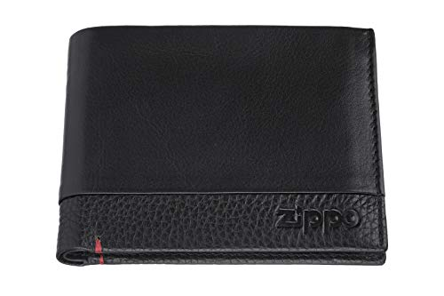 Zippo Nappa Leather tr fold Wallet Münzbörse 12 Centimeters Schwarz (Black) - Fold Wallet