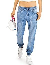 Bestyledberlin Damen Hosen, Baggy Jeans im Boyfriend-Style j18i-ne