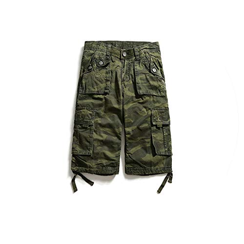 Summer Camouflage Shorts Men Casual Short Male Cotton Clothes Plus Size Military Short Trousers,Green Camouflage,31