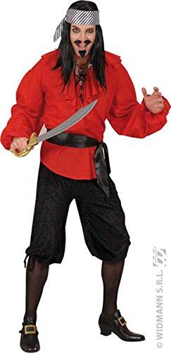 Italienische Kostüm Verkauf Zum - Widmann-cs922618-Caprihose Velours Schwarz Größe M/L
